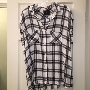 Rails buttery soft plaid top size large